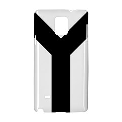Forked Cross Samsung Galaxy Note 4 Hardshell Case by abbeyz71