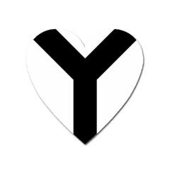 Forked Cross Heart Magnet by abbeyz71