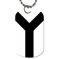 Forked Cross Dog Tag (one Side) by abbeyz71