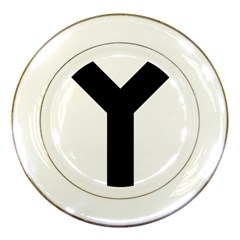 Forked Cross Porcelain Plates by abbeyz71