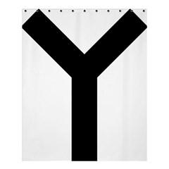 Forked Cross Shower Curtain 60  X 72  (medium)  by abbeyz71