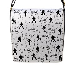 Elvis Presley pattern Flap Messenger Bag (L)