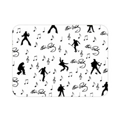 Elvis Presley Pattern Double Sided Flano Blanket (mini)  by Valentinaart