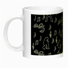 Elvis Presley Pattern Night Luminous Mugs by Valentinaart