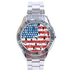 Elvis Presley Pattern Stainless Steel Analogue Watch by Valentinaart
