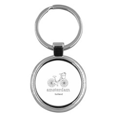 Amsterdam Key Chains (round)  by Valentinaart
