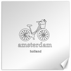Amsterdam Canvas 16  X 16   by Valentinaart