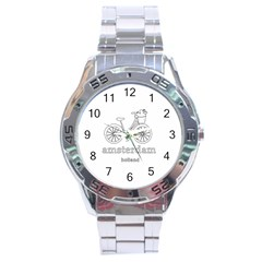 Amsterdam Stainless Steel Analogue Watch by Valentinaart