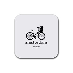Amsterdam Rubber Square Coaster (4 Pack)  by Valentinaart
