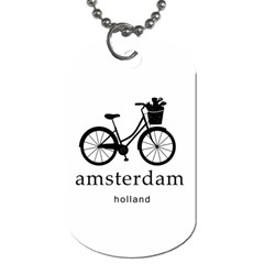 Amsterdam Dog Tag (one Side) by Valentinaart