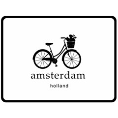 Amsterdam Double Sided Fleece Blanket (large)  by Valentinaart