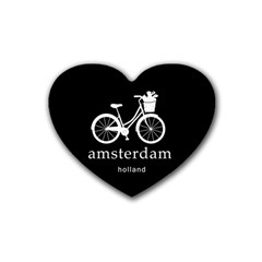 Amsterdam Rubber Coaster (heart)  by Valentinaart