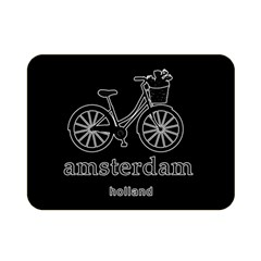 Amsterdam Double Sided Flano Blanket (mini)  by Valentinaart