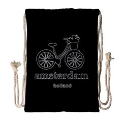 Amsterdam Drawstring Bag (large) by Valentinaart