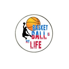 Basketball Is My Life Hat Clip Ball Marker (4 Pack) by Valentinaart