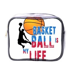 Basketball Is My Life Mini Toiletries Bags by Valentinaart