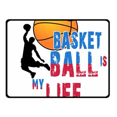 Basketball Is My Life Fleece Blanket (small) by Valentinaart