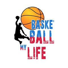 Basketball Is My Life Shower Curtain 48  X 72  (small)  by Valentinaart
