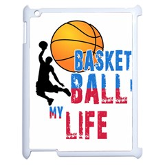 Basketball Is My Life Apple Ipad 2 Case (white) by Valentinaart