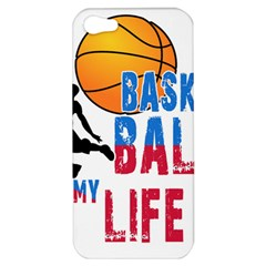 Basketball Is My Life Apple Iphone 5 Hardshell Case by Valentinaart