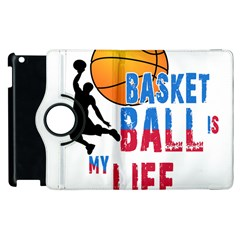 Basketball Is My Life Apple Ipad 3/4 Flip 360 Case by Valentinaart