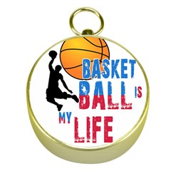 Basketball Is My Life Gold Compasses by Valentinaart