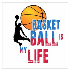 Basketball Is My Life Large Satin Scarf (square) by Valentinaart
