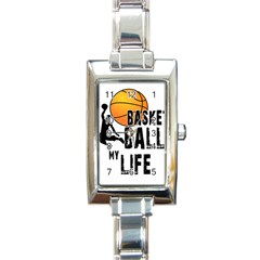 Basketball Is My Life Rectangle Italian Charm Watch by Valentinaart