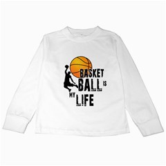 Basketball Is My Life Kids Long Sleeve T Shirts by Valentinaart