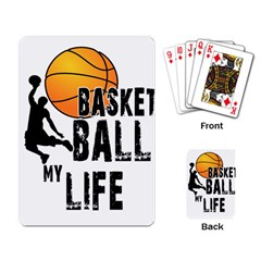 Basketball Is My Life Playing Card by Valentinaart