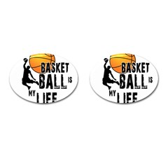 Basketball Is My Life Cufflinks (oval) by Valentinaart