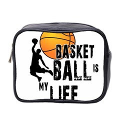 Basketball Is My Life Mini Toiletries Bag 2 Side by Valentinaart