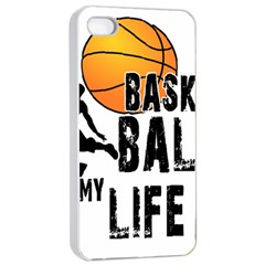 Basketball Is My Life Apple Iphone 4/4s Seamless Case (white) by Valentinaart