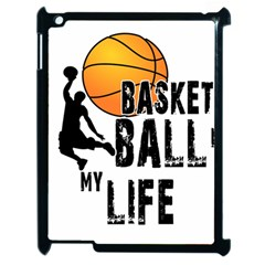 Basketball Is My Life Apple Ipad 2 Case (black) by Valentinaart