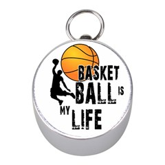 Basketball Is My Life Mini Silver Compasses by Valentinaart