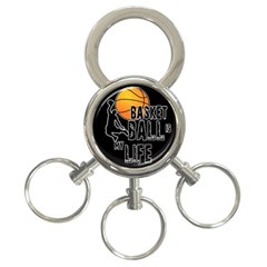 Basketball Is My Life 3 Ring Key Chains by Valentinaart