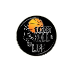 Basketball Is My Life Hat Clip Ball Marker by Valentinaart
