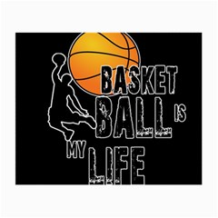 Basketball Is My Life Small Glasses Cloth by Valentinaart