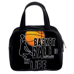 Basketball Is My Life Classic Handbags (2 Sides) by Valentinaart