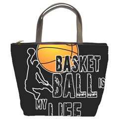 Basketball Is My Life Bucket Bags by Valentinaart