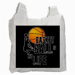 Basketball Is My Life Recycle Bag (one Side) by Valentinaart
