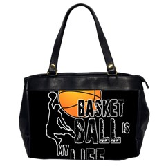 Basketball Is My Life Office Handbags (2 Sides)  by Valentinaart
