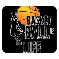 Basketball Is My Life Double Sided Flano Blanket (small)  by Valentinaart