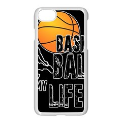 Basketball Is My Life Apple Iphone 7 Seamless Case (white) by Valentinaart