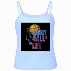 Basketball is my life Baby Blue Spaghetti Tank