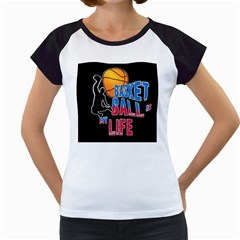Basketball is my life Women s Cap Sleeve T