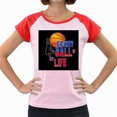 Basketball is my life Women s Cap Sleeve T-Shirt