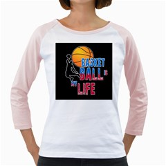 Basketball is my life Girly Raglans