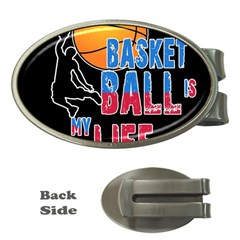 Basketball is my life Money Clips (Oval)