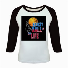 Basketball is my life Kids Baseball Jerseys